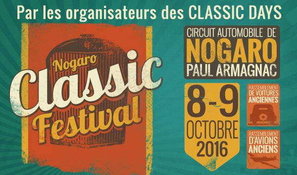 Classic Festival - 8 et 9 octobre 2016 - Nogaro