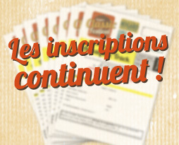 Attention : aucune inscription ne sera possible sur place !